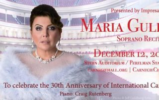 Maria Guleghina - 30th anniversary Carnegie Hall